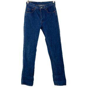 Vintage Levi's 501 High Waist Button Fly Jeans Size 28 x 34 100% Cotton